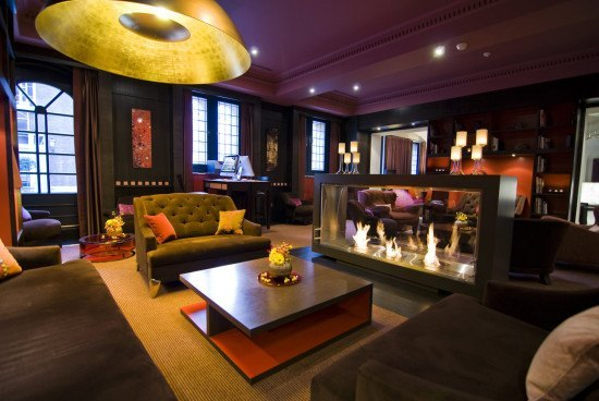 Sexy and cozy library at the Sofitel Legend Amsterdam The Grand