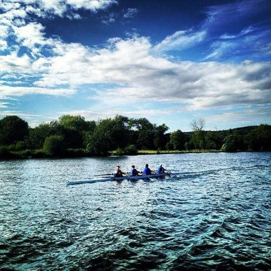 The stunning River Thames (and the boys don't look bad either)