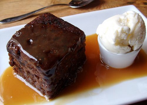 Thank God for sticky toffee pudding (my sister's favourite)