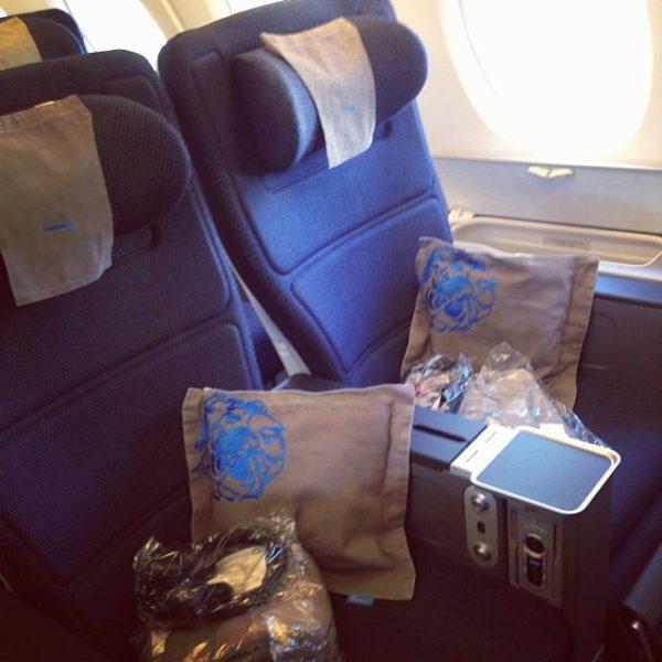 The British Airways World Traveller Plus seat