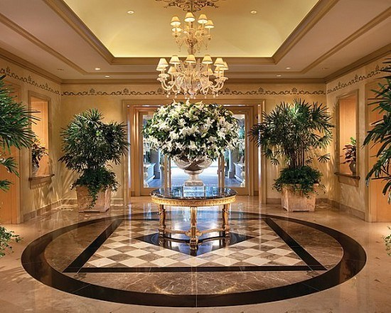The lobby at Four Seasons Los Angeles at Beverly Hills