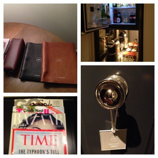 Loved the folders and the minibar. And other small touches.