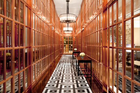 The stunning Rose Bronze Gallery. Welcome to the Rosewood London.