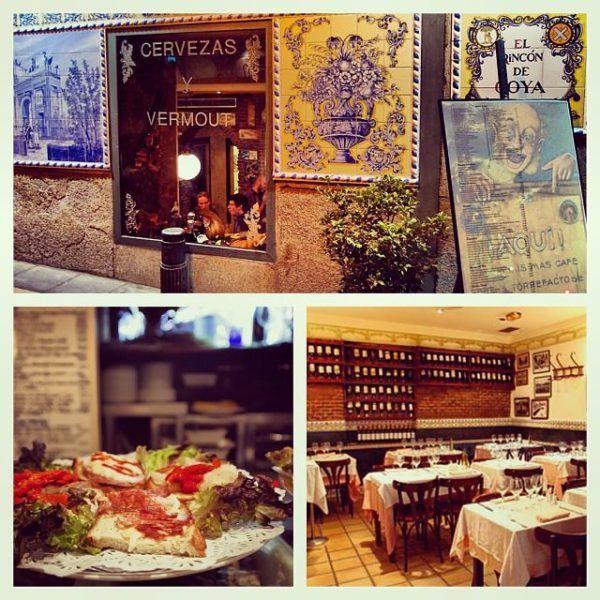 where to eat in madrid el Rincon de Goya