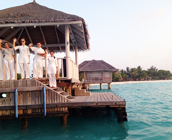 All guest arrivals and departures are always an occasion at Lux Maldives