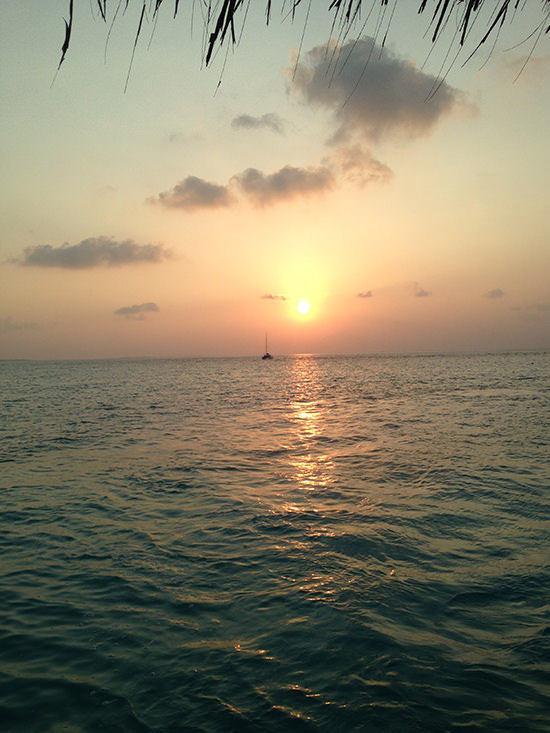 Only here I watch the sun set with intent. At Lux Maldives