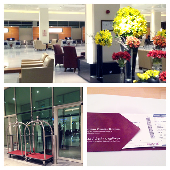 Qatar Airways Business Class Check-in (at the old Doha Premium Terminal)