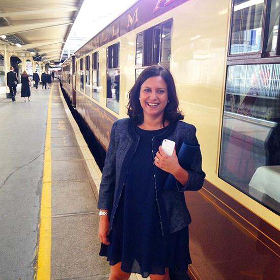 Ana at Belmond british pullman train