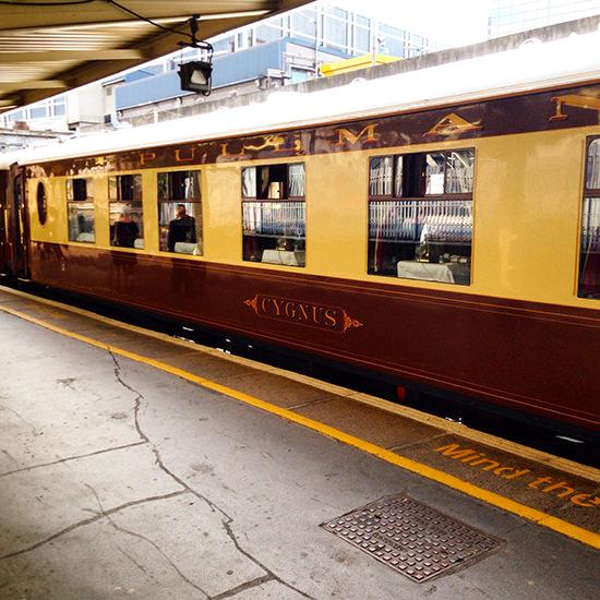 Our carriage: Cygnus Belmond british pullman train ticket