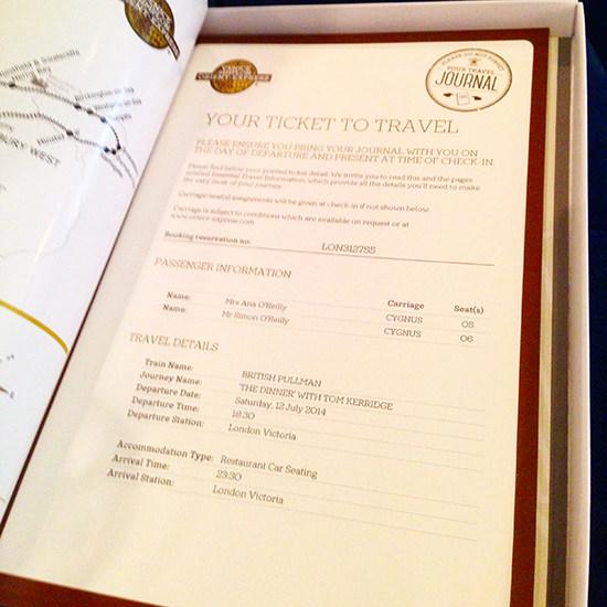 Belmond british pullman train ticket