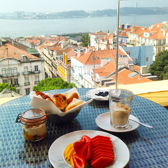 I know I am biased (and I am not even pretending not to be), but there is nothing like a good Portuguese breakfast. And fab views.