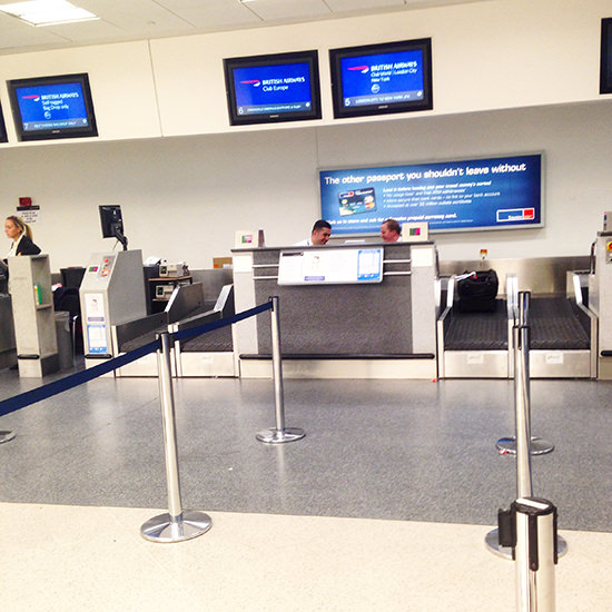 Check in at London City airport