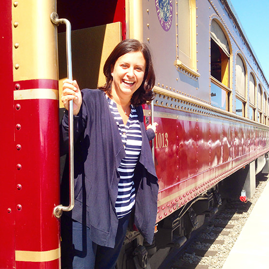 In my element!! I loved the Wine Train.