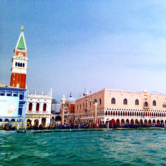 views of venice from boat going to Belmond Cipriani hotel