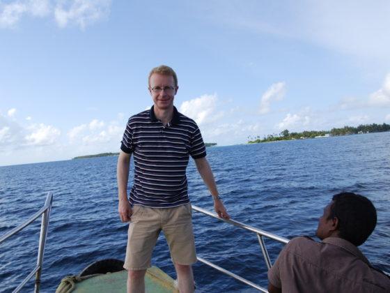 Tom on a local ferry