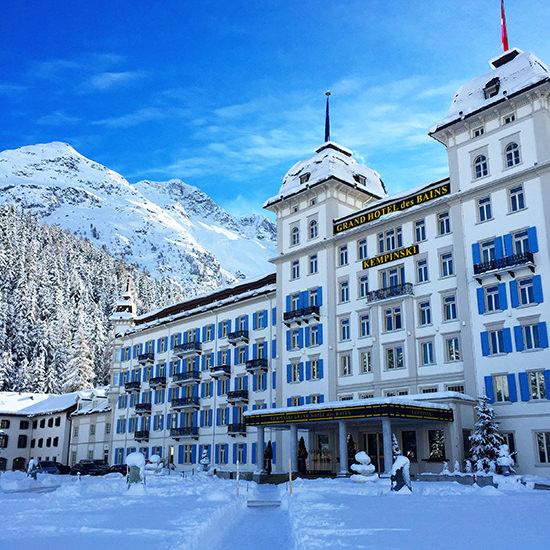 The wonderful Kempinski St Moritz