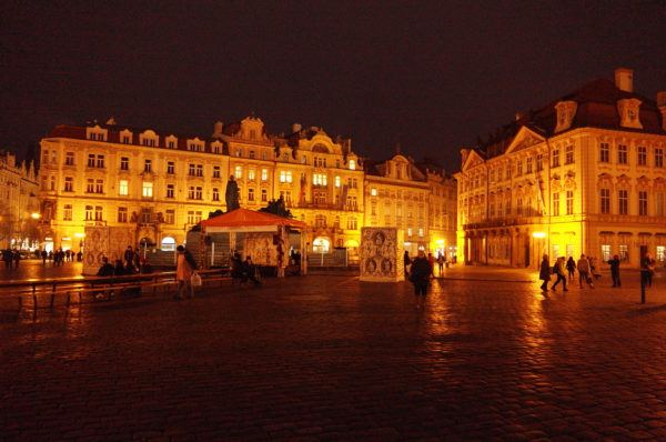 The Old Town Square by night. Prague city break