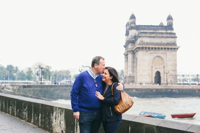A first glimpse of the Gateway of India, in Mumbai. Photo by Flytographer.