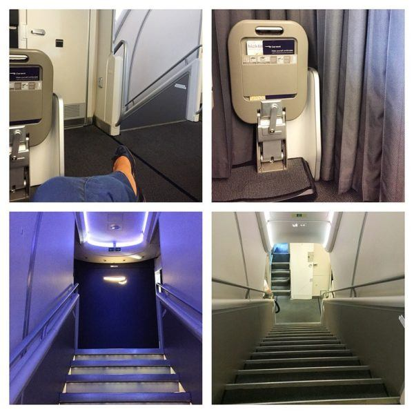British Airways A380 Business Class Club World Review cabin detail