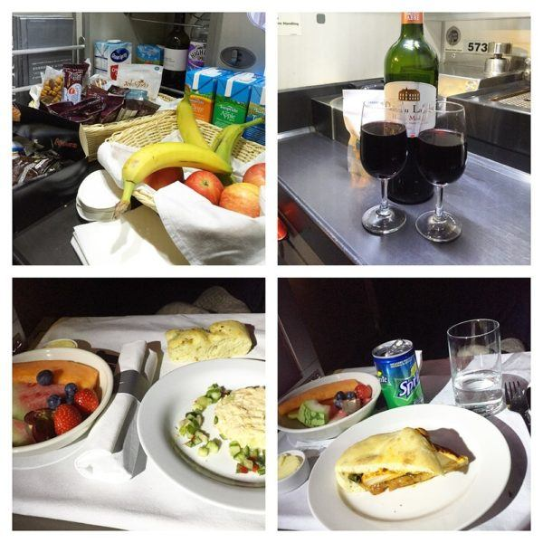 British Airways A380 Business Class Club World Review club kitchen and meal