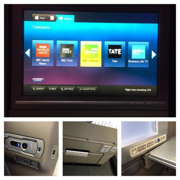 British Airways A380 Business Class Club World Review in flight entertainment usb