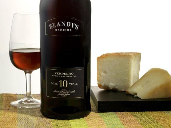 Madeira Wine Guide Blandy Verdelho 10 years paired with cheese