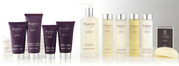 best hotel toiletries asprey purple water