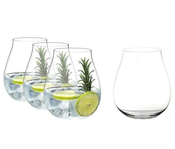 riedel gin o clock stemless glasses