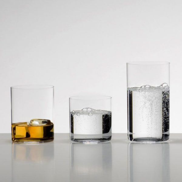 riedel whisky gin water h2o glasses