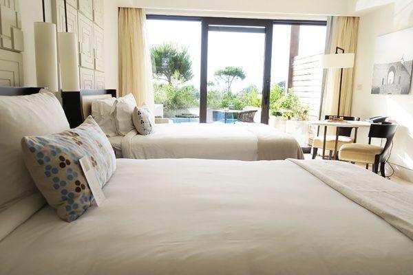 The Romanos Luxury Collection Costa Navarino Sovereign Luxury Holidays Deluxe Premium Bedroom pool