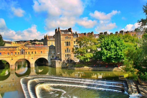 Bath England uk city break bath Christmas market