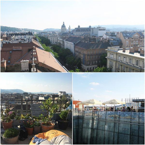 what to do in Budapest city break 360 roof top bar
