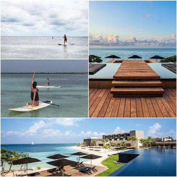 SUP and SUP yoga Nizuc resort and spa Mexico