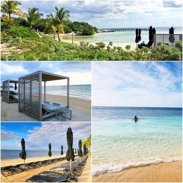 private beach at Nizuc resort and spa Mexico