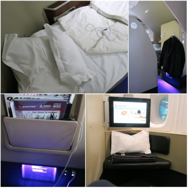 qantas flights first class seat bed