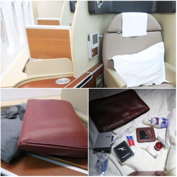 qantas first class suite SKII toiletries QF1