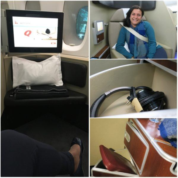 QF1 first class seat
