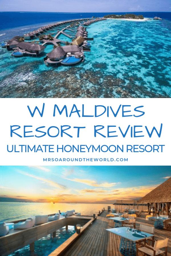 W Maldives Resort Review Maldives Hotels