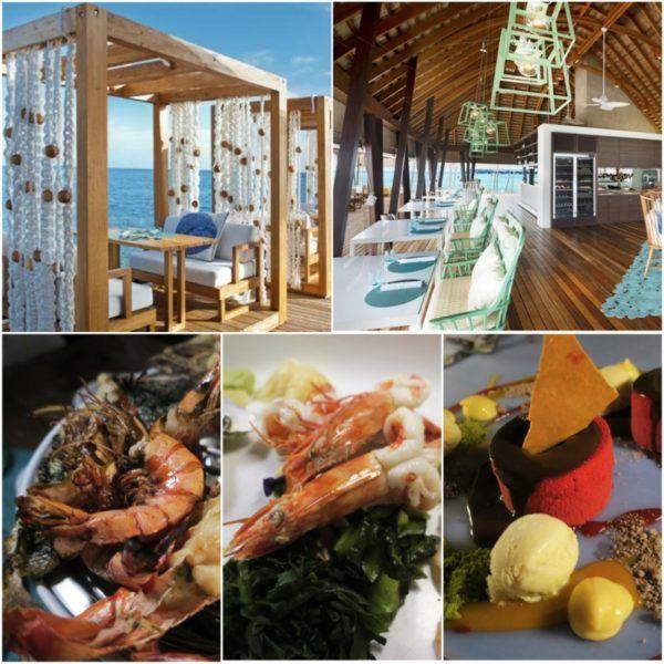 w maldives starwood spg luxury hotel fish restaurant dinner half board