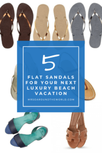 flat sandals for summer luxury holiday