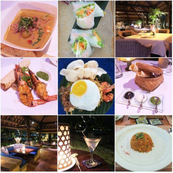 oberoi bali seminyak luxury hotel restaurant bar dinner lunch breakfast indian food