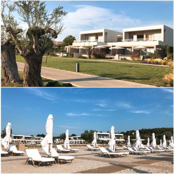 sani dunes luxury beach hotel resort halkidiki greece sovereign luxury travel drone photo of resort pool beach