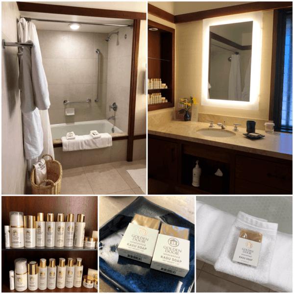golden door luxury destination spa retreat between san diego and los angeles fitness weight loss wellness mindfullness bathroom details and toiletries
