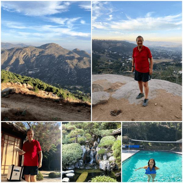 golden door luxury destination spa retreat between san diego and los angeles fitness weight loss wellness mindfullness morning hike views