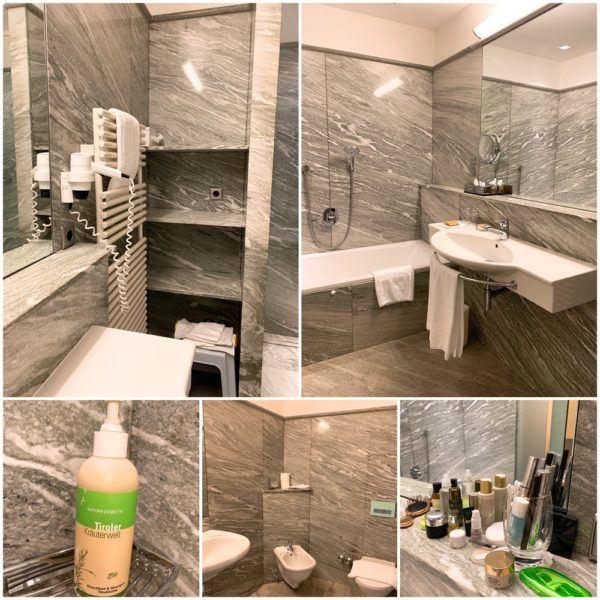 Park Igls detox medical spa austria innsbruck mayr cure diet setting bathroom junior suite