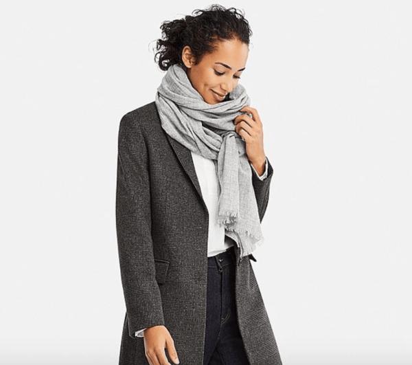 uniqlo cashmere scarf winter clothes
