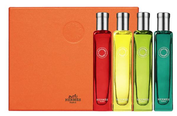 Long haul flight beauty essentials hermes set of 4 travel size perfumes