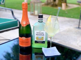 limoncello spritz recipe summer cocktails glass taittinger champagne
