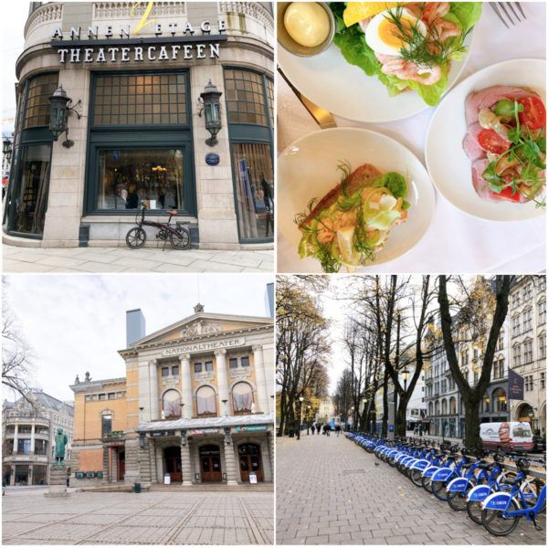 best places for lunch in oslo theatercafeen open faced sandwiches