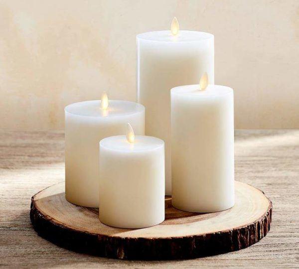 pottery barn flickerless premium wax candles